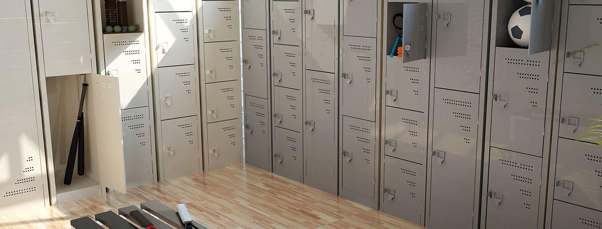 lockers en espacio laboral